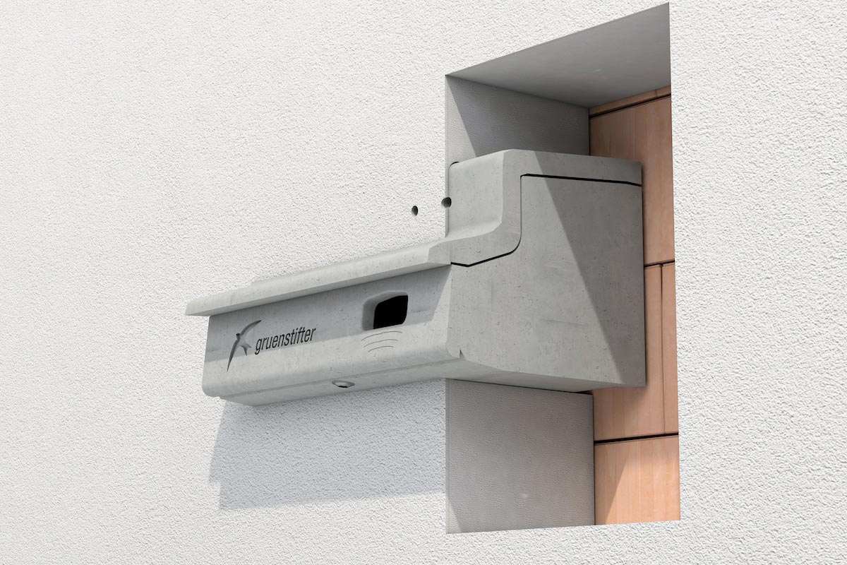 Mauerseglernistkasten in Wärmedämmung