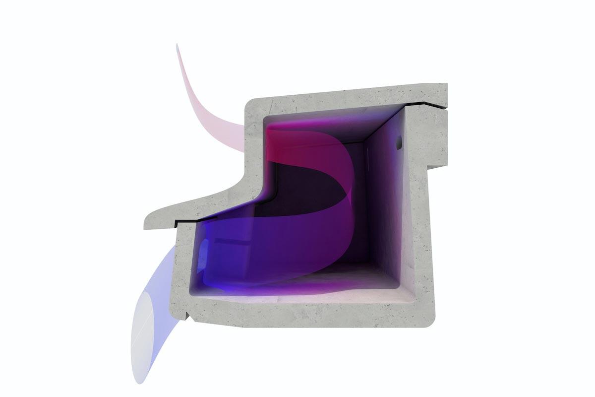 Mauerseglernistkasten Querschnitt  Luftzirkulation